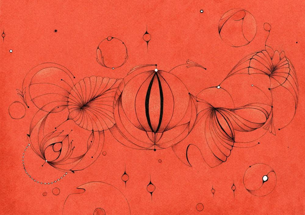 CarpAurea. Tinta y lápiz sobre papel