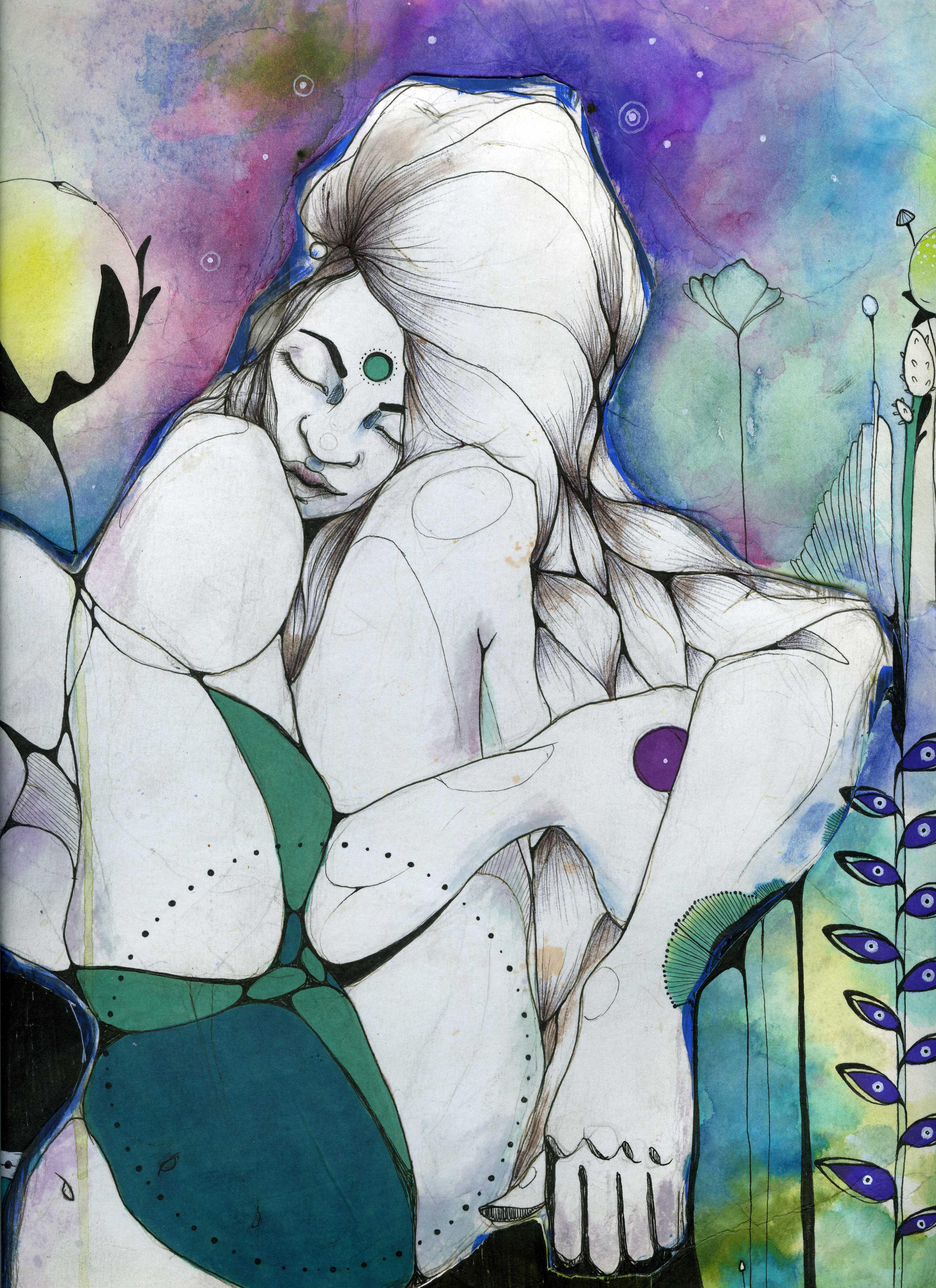 Abrazo interno, de la piel hacia los huesos, habitando el cuerpo